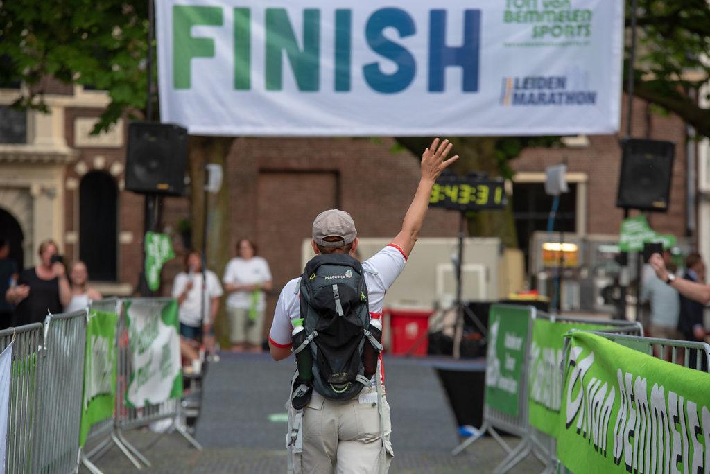Finish wandeltocht - Leiden Marathon
